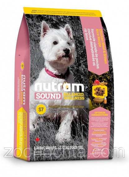 Сухой корм Nutram Sound Balanced Wellness® Small Breed Adult Natural Dog для собак мелких пород 20КГ