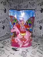 """Лялька на конячці """"Bettina"""" (рожева) 66332"""