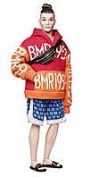 Барби коллекционная в оранжевой толстовке и шортах Barbie BMR1959 (GHT93)