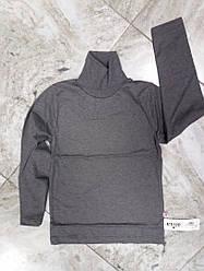Гольф детский  на баечке  с отворотом  размер  140 см цвет серый
