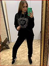 Теплый спортивный костюм ~Shine~ чёрный, фото 2