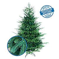 Искусственная елка новогодняя литая 210 см VIP пушистая разборная с подставкой с доставкой 31% PE, 69 % ПВХ, фото 1