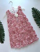 Платье для девочки   Цветы 2,3,4 года