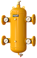Гидрострелка сепаратор TRF.M-50 фланцев. c магнит.улав.Ду50 с манометрами 16bar KVANT Air DiRT