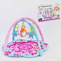 Развивающий коврик игровой для младенца D077 Розовый