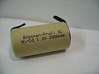 Аккумулятор Bossman Sc 2000 mAh, 1.2 v, 22х42 мм, с техническими выводами