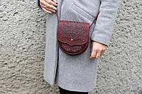 Кожаная женская сумка, сумка через плечо, бронзовая, фото 1