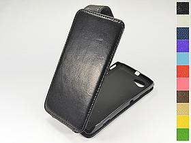 Откидной чехол из натуральной кожи для Sony Xperia L s36h