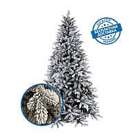 Искусственная заснеженная елка новогодняя литая хвоя 180 см пушистая премиум класса 25% PE, 75 % ПВХ, фото 1