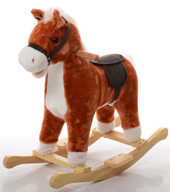 Лошадка-качалка музыкальная MP 0081 (Рыжий)