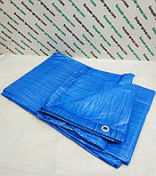 Тент (полог) синий 4x8 м. от дождя, ветра, снега, для создания тени.Полипропиленовый,тарпаулиновый., фото 1