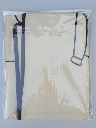 Чехол для хранения и упаковки одежды на молнии флизелиновый  бежевого цвета. Размер 60 см*100 см., фото 2