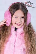 Детские наушники из натурального меха для девочки Фиона Украина W3-101