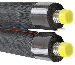 Двойная гофрированная труба DN20, изоляция 19 мм