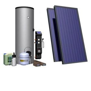 Комплект обладнання для ГВП 120 л на плоскому колекторі HEWALEX