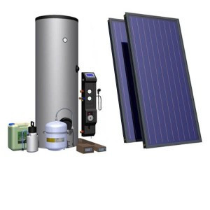 Комплект обладнання для ГВП 200 л на плоскому колекторі HEWALEX