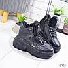 Ботинки женские Buf зимние черные эко-кожа ))В НАЛИЧИИ ТОЛЬКО 38 39р, фото 8
