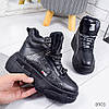 Ботинки женские Buf зимние черные эко-кожа ))В НАЛИЧИИ ТОЛЬКО 38 39р, фото 10