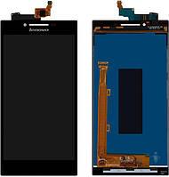 Дисплей для мобильного телефона Lenovo P70, черный, с тачскрином, ORIG
