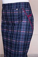 Женская трикотажная  юбка в клетку, 48-58