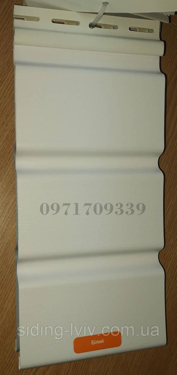 Софіт Білий Аско для підшивки даху пластиковий перферований, не перферований 3,5 х 0,305 м (Asko Neo)