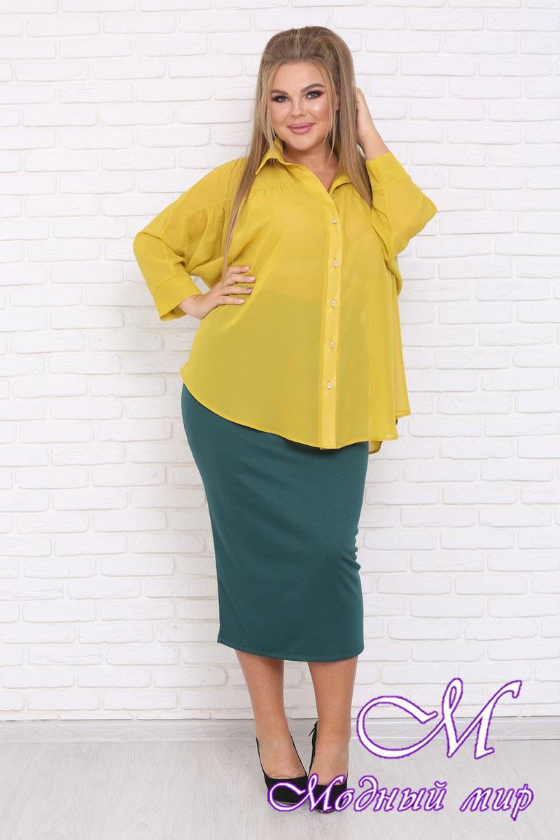 Женская свободная блуза большие размеры (р. 42-90) арт. Ветер