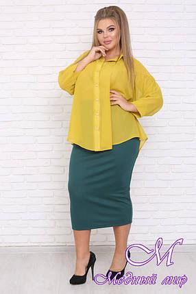 Женская свободная блуза большие размеры (р. 42-90) арт. Ветер, фото 2