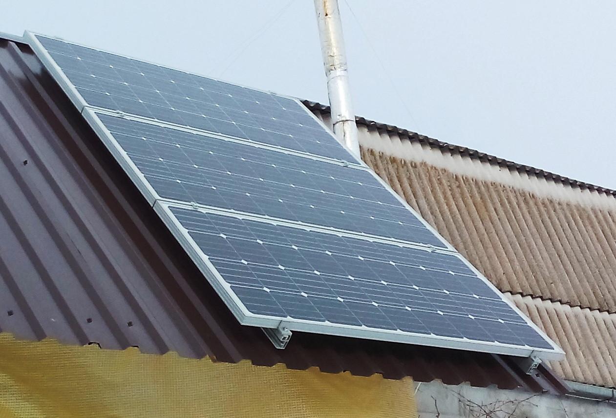 Солнечная министанция 0,5 кВт для дачи. Реализованный объект в Запорожской области.