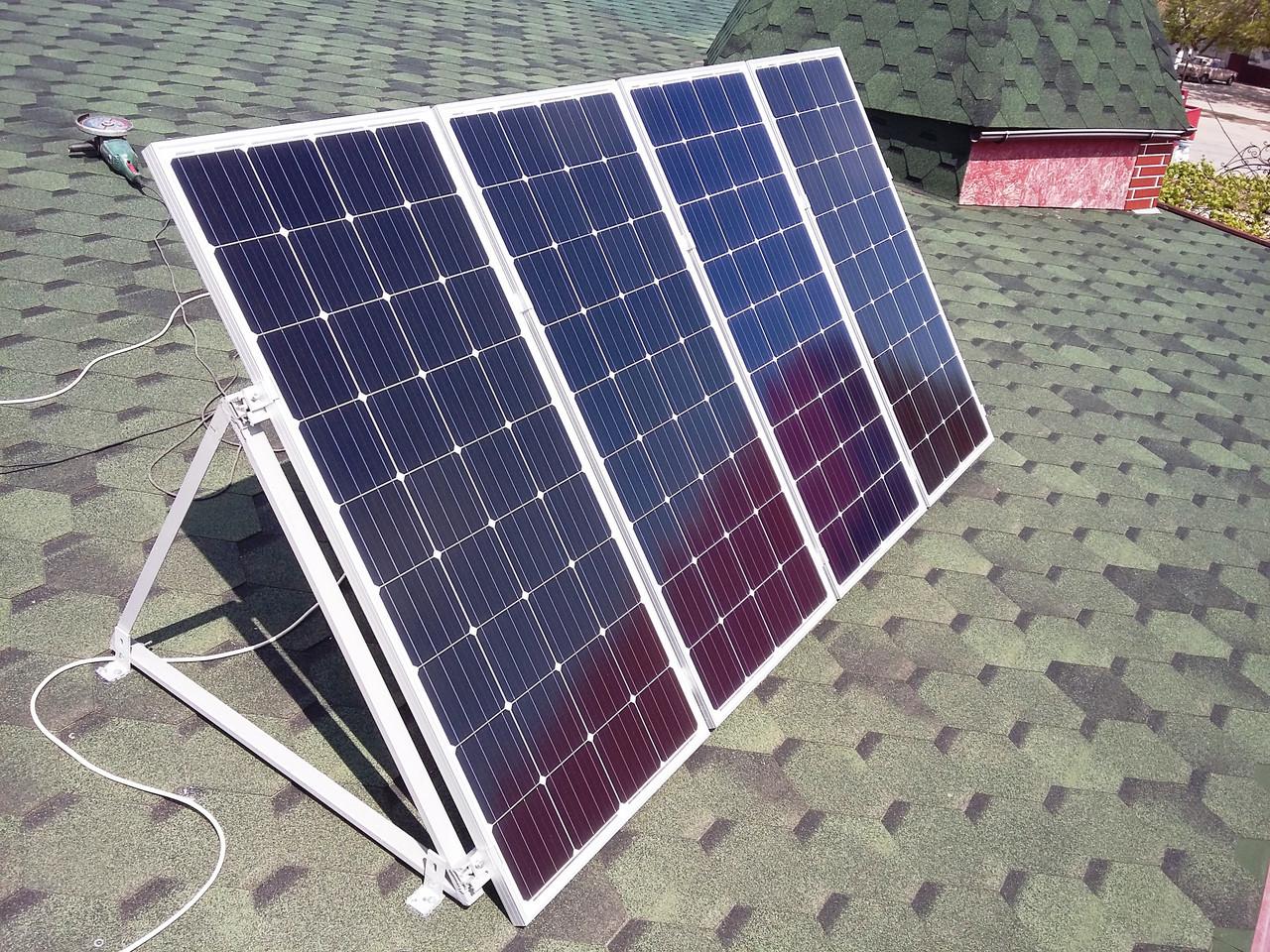 Автономна сонячна министанция 1,4 кВт, для освітлення та відеоспостереження