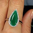 Серебряное кольцо с зеленым кварцем - Кольцо женское с зеленым камнем серебро, фото 5