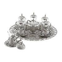 Набор чайных стаканов Sena Kusakli серебристый на 6 персон