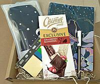 Подарунковий набір Viola щоденник недатований маска для сну шоколад індекси пластикові
