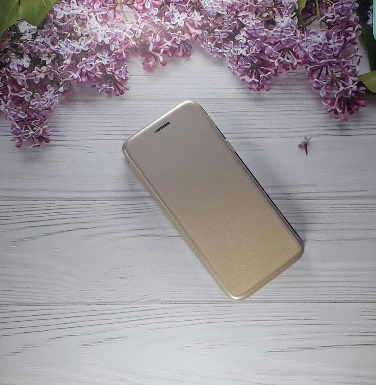 Чохол (книжка) з візитницею для Samsung A6 (18), Gold