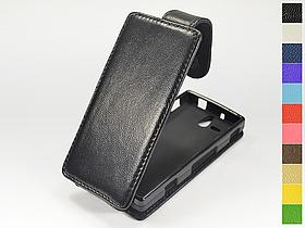 Откидной чехол из натуральной кожи для Sony Xperia U (st25i)