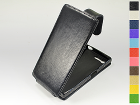 Откидной чехол из натуральной кожи для Sony Xperia X Compact F5321