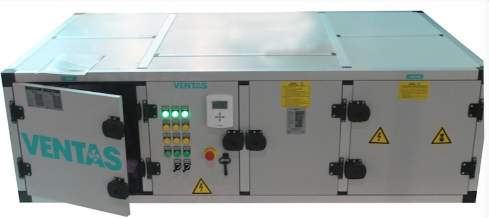 Подвесная ПВУ VHRV-DX-1000 с пластинчатым рекуператором и тепловым насосом