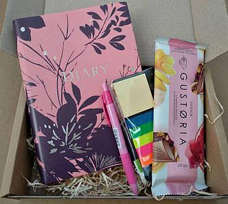 Подарунковий набір Nirvana щоденник недатований шоколад індекси пластикові