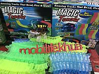 Светящаяся дорога Magic Tracks/220 деталей/Машинка Джип 3 LED Диода/Наклейки в комплекте!