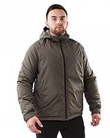 Теплая мужская куртка на синтепоне, флисовая подкладка