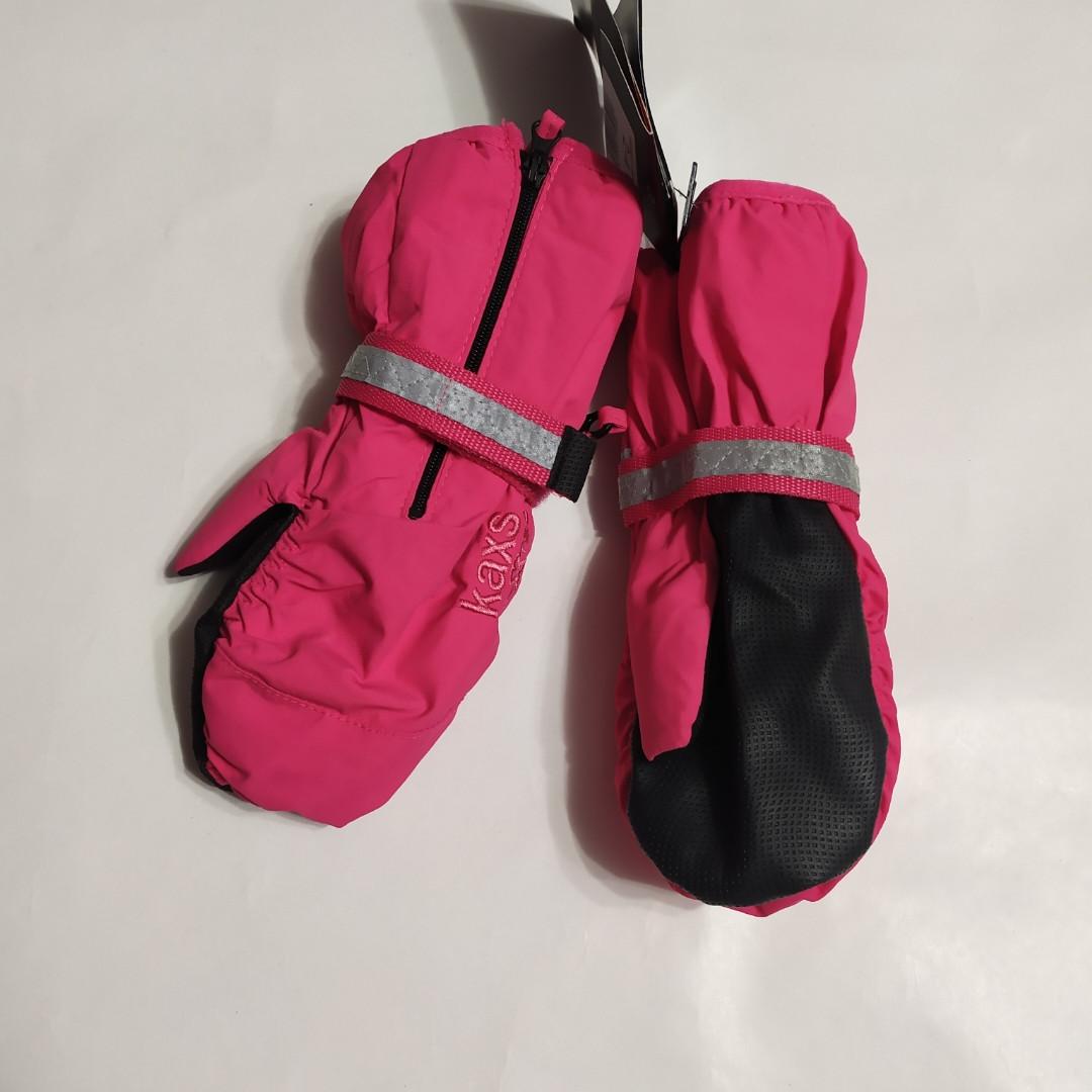 Варежки-краги для девочки розовые KappAhl  2-4, 4-6 лет