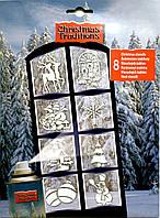 Трафареты новогодние, набор 8 шт