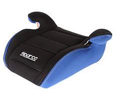 Детское автокресло бустер Sparco F100K BOOSTER 15-36kg black-blue