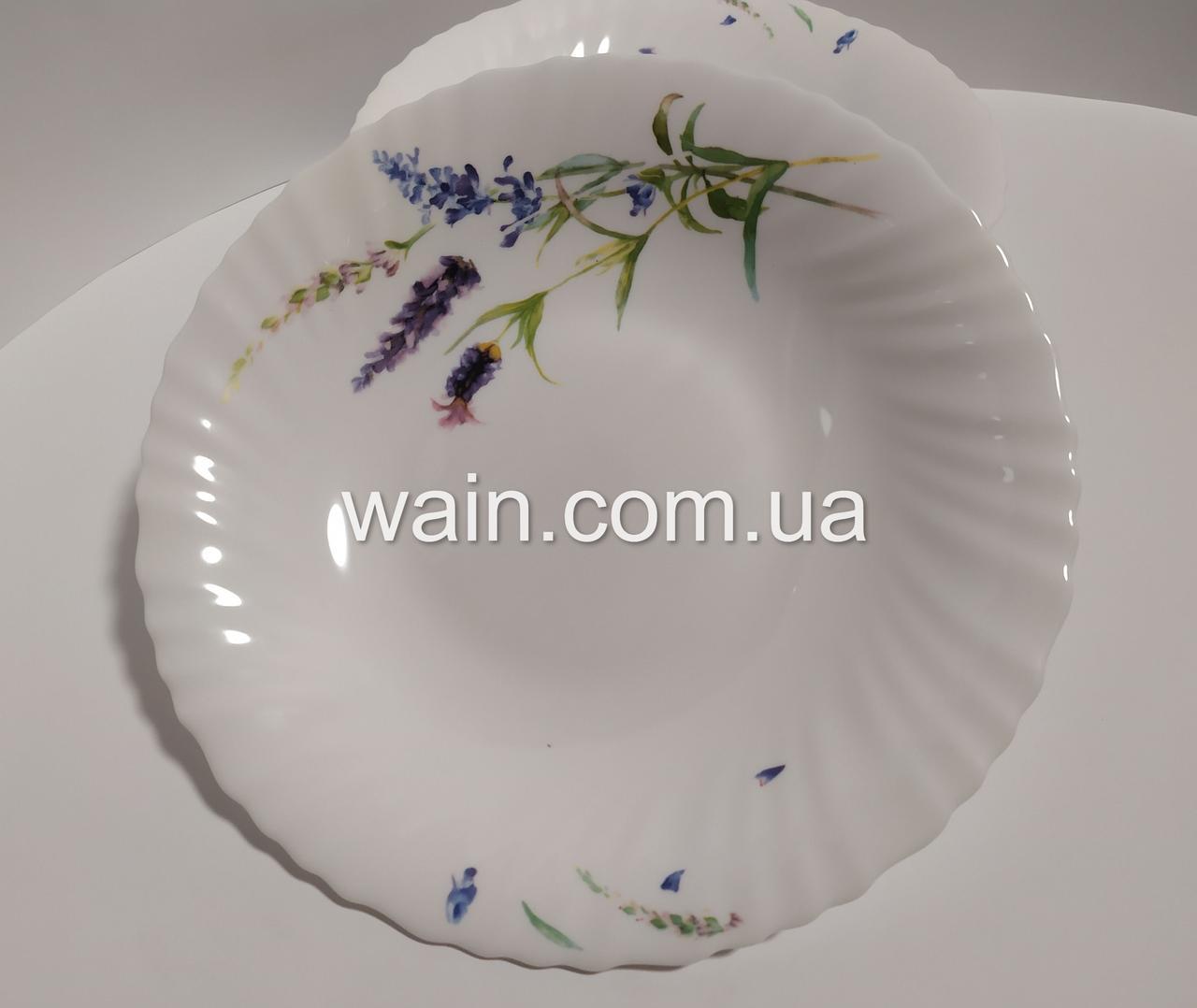 Тарелки суповые из стеклокерамики Прованс 6 шт 21,5 см диаметр
