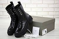 Женские зимние ботинки BOTH черные (натуральная кожа)