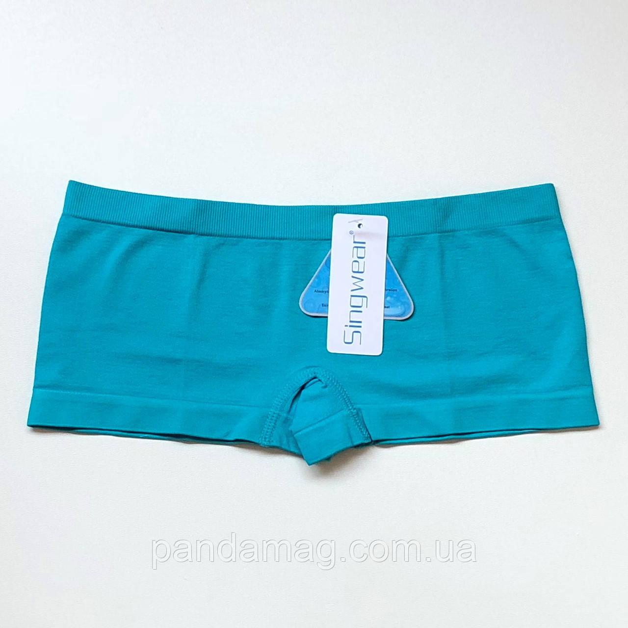 Трусики женские шорты бесшовные бирюзовый