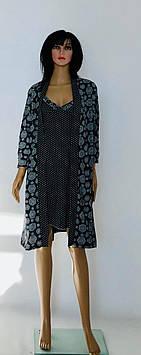 Комплект пижама халат и ночная рубашка от производителя