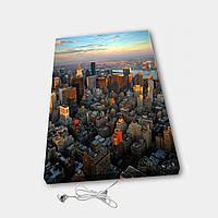 Обогреватель настенный электрический инфракрасный картина АртТепло Город в закате