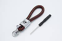 Брелок LEXUS плетеный + карабин/черно-красный, фото 1