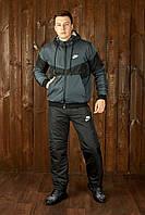 Мужской теплый зимний костюм.Мужской зимний костюм с капюшоном на овчине Nike.ТОП качество!!!