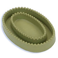 Массажная щетка Safari резиновая для короткошерстных собак, зеленая